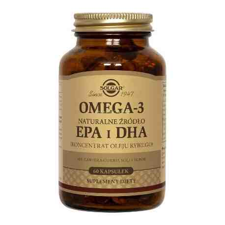 SOLGAR Omega 3 naturalne źródło EPA i DHA