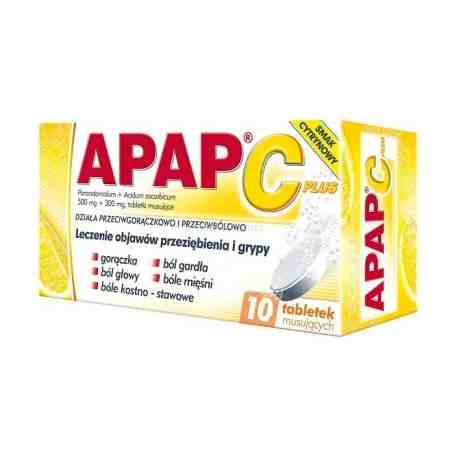 Apap C plus ból i gorączka