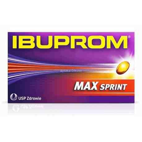 Ibuprom MAX Sprint kaps.miękkie 0.4g x 20 kaps.
