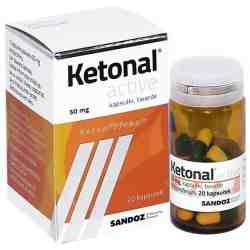 Ketonal active 50mg x 20 kaps.