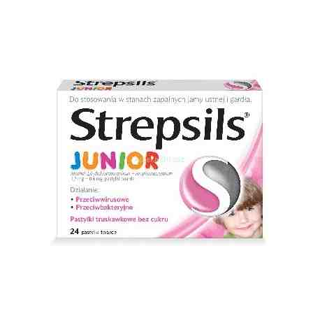 Strepsils Junior 24 pastylki