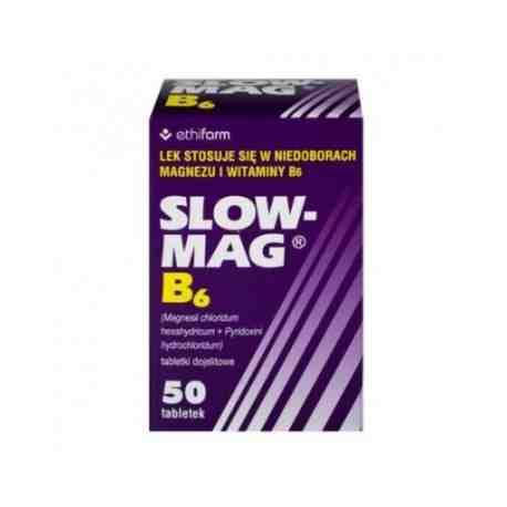 Slow -Mag B6 MAGNEZ 50 tabl.