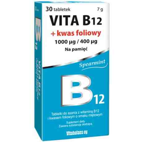 Vita B12+folic acid 30 tabl