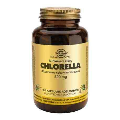 SOLGAR Chlorella kaps. 0,52 g 100 kaps.
