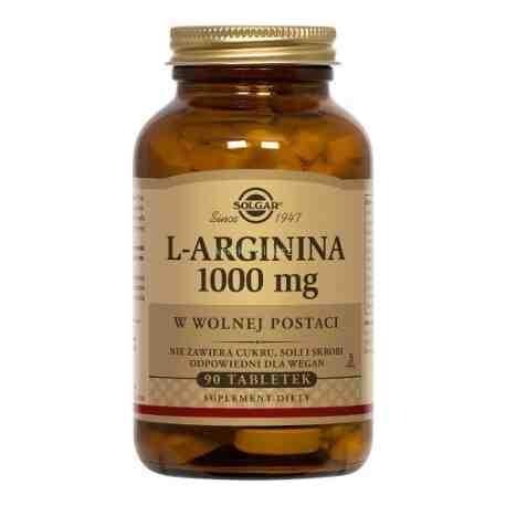 SOLGAR L-arginina 1000 mg w wolnej postaci