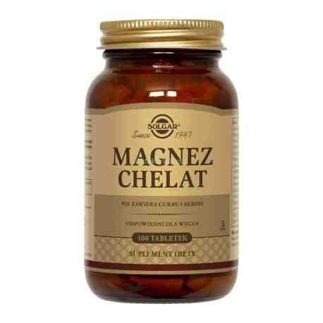 SOLGAR Magnez chelat aminokwasowy tabl. 10