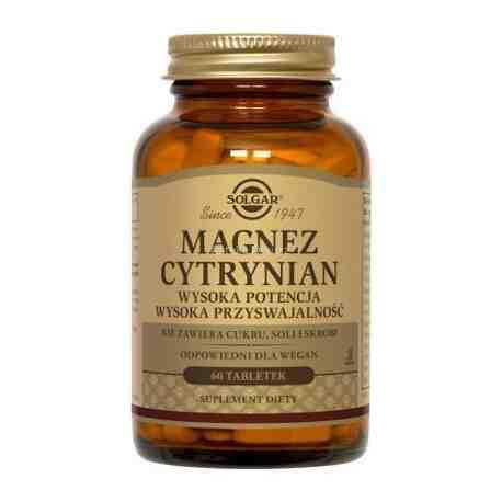 SOLGAR Magnez cytrynian tabl. 60 tabl.