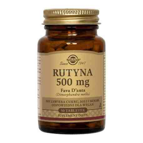 SOLGAR Rutyna 500 mg Fava D'anta tabl. 50t
