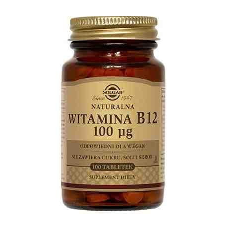 SOLGAR Witamina B12 naturalna tabl. 0,1mg