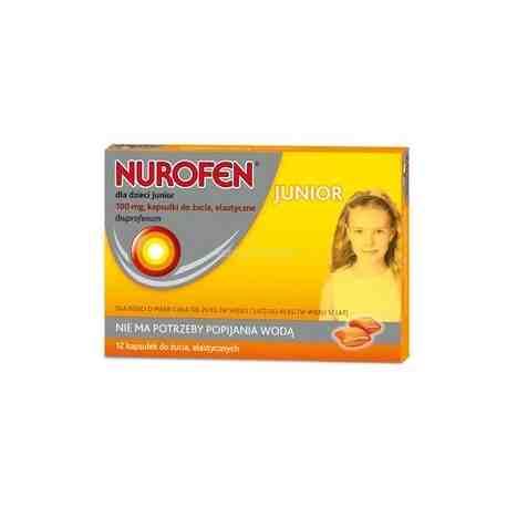 Nurofen dla dzieci Junior kaps.dożucia 0,1