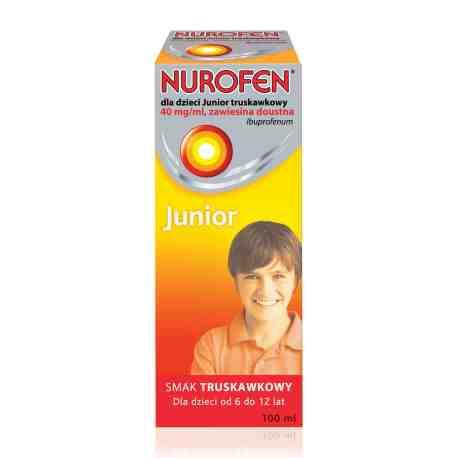 Nurofen dla dzieci JUNIOR truskawk.100ml