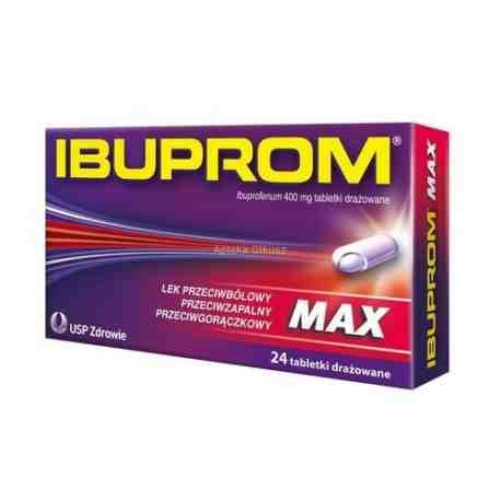 Ibuprom MAX 0,4 g x  24 tabl.
