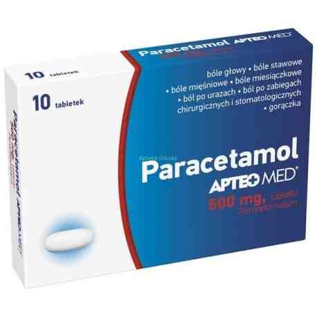 Paracetamol APTEO MED tabl. 0,5 g 10 tabl.