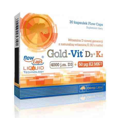 Olimp Gold-Vit D3+K2 kaps. 30 kaps.